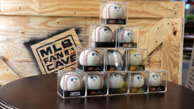 Potential milestone baseballs visit Fan Cave