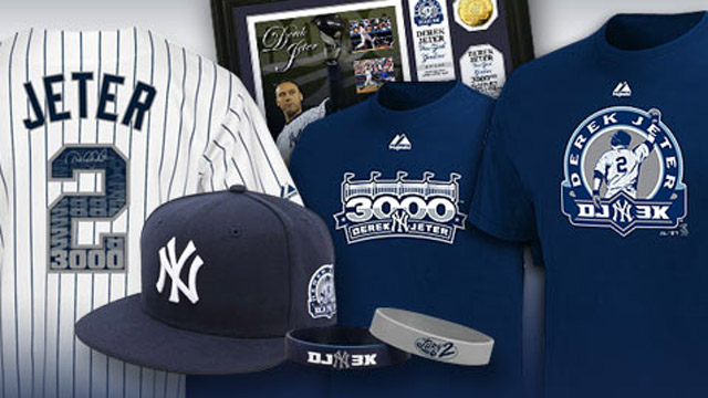Commemorate Jeter's feat with unique gear