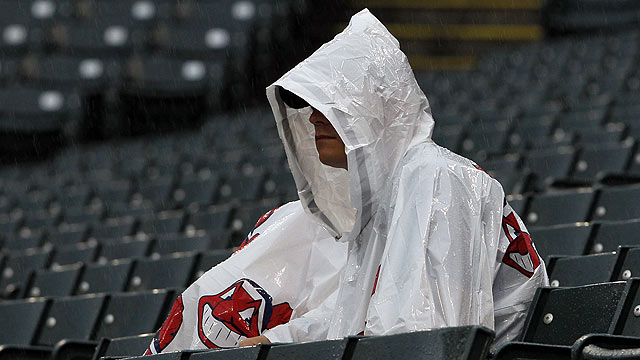 Tribe's sweep bid washed out by rain