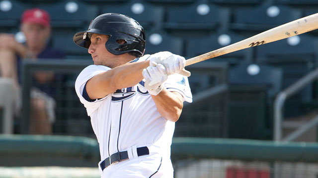 Mahtook drives in two in Surprise victory