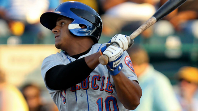 Mets' Marte makes first AFL homer a big one