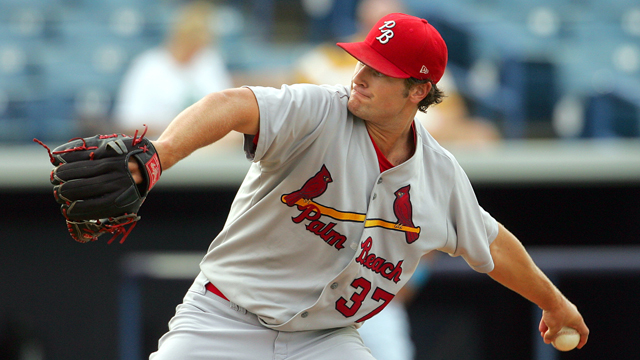 Cardinals' Lyons pitches five perfect innings