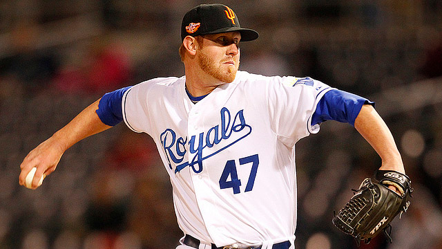 Royals' Adcock dominant in AFL shutout