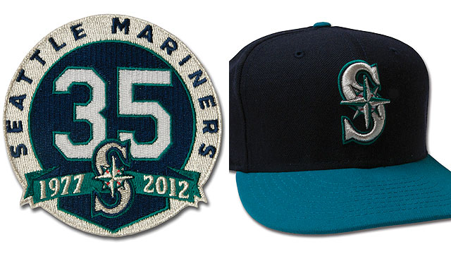 Mariners unveil patch to mark 35th anniversary