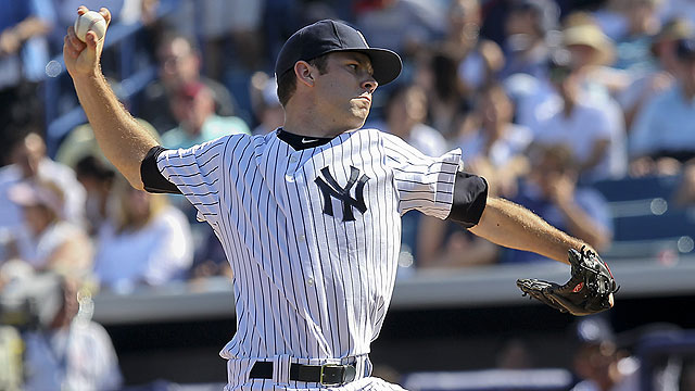 Yankees add five players to 40-man roster