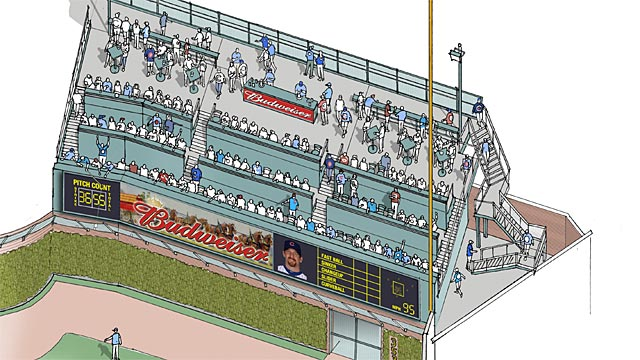 Wrigley's right-field bleachers getting patio