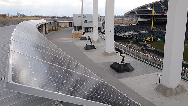 Solar panels to help power Kauffman Stadium