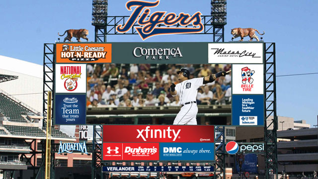 New scoreboard in works at Comerica Park