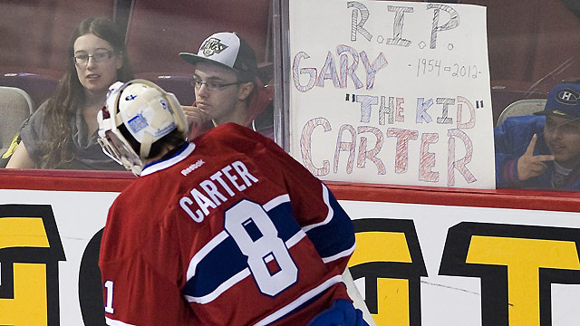 Montreal Canadiens pay tribute to Carter