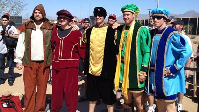 D-backs' rookies go medieval for outing