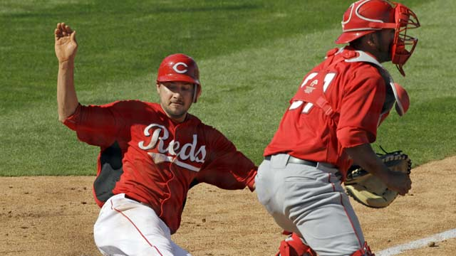 Bruce stays hot as Reds rally past Angels