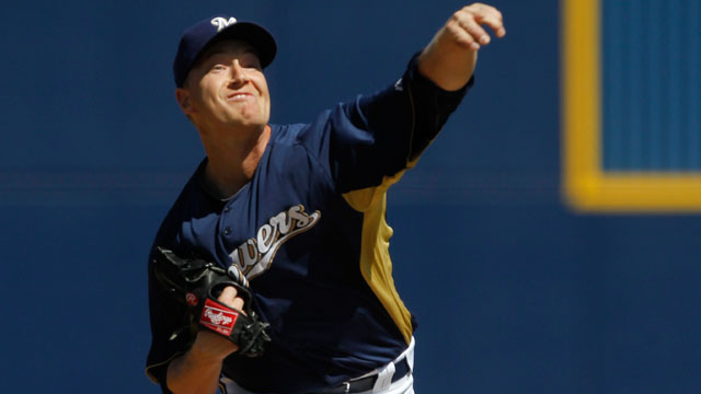 Green's blast powers Brewers past Padres