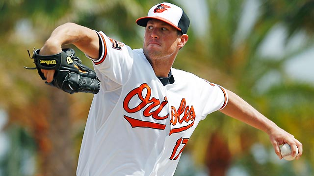 Matusz hurls five solid innings of one-run ball