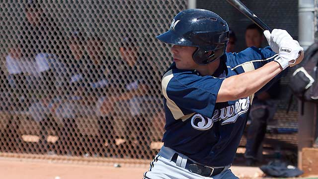 Brewers prospect Gennett hits for cycle in win