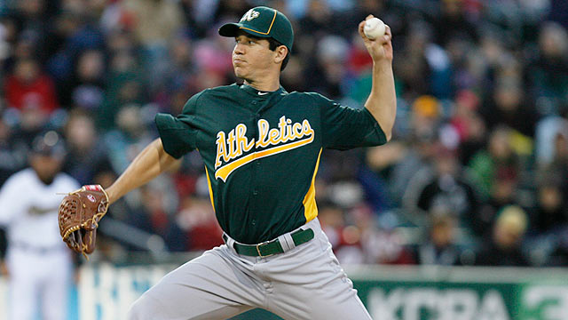 Milone perfect in A's rain-shortened no-no