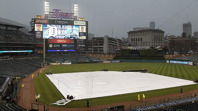 Royals' opener in Detroit postponed by rain