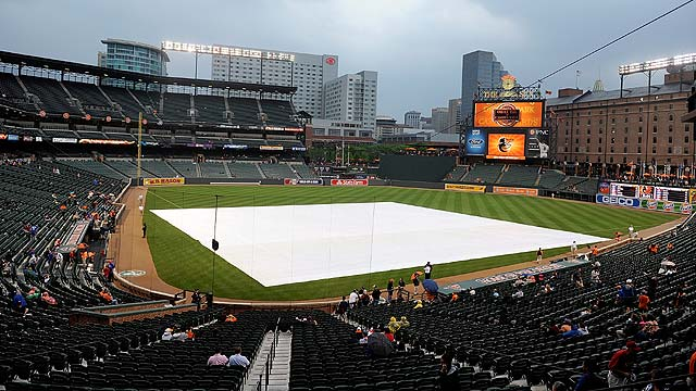 O's rained out, to recall Hunter for Thursday DH