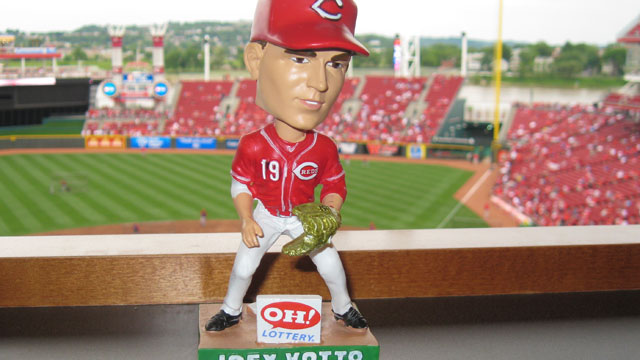 Votto bobblehead a labor of glove