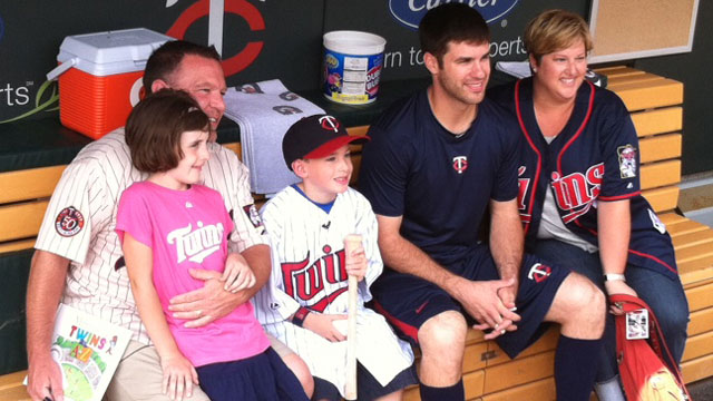 Mauer makes wish come true for young fan