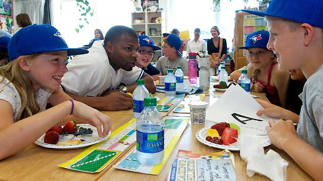 Fueled for success: Rajai talks food with kids