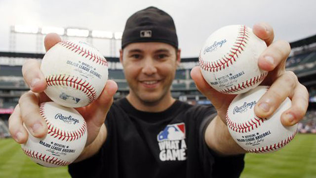 Ballhawks give back by collecting baseballs