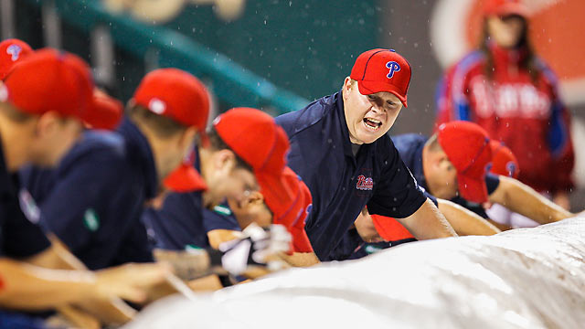 Rain postpones Phils' opener; twin bill set Sunday