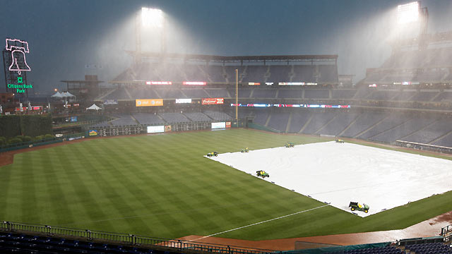 Rays-Phils postponed; Shields to start Saturday