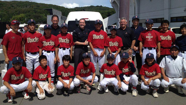 D-backs host Road Show in tsunami-devastated town
