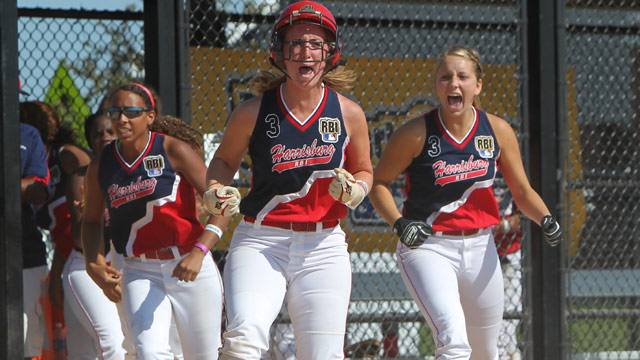 Harrisburg walks off with ticket to RBI softball final