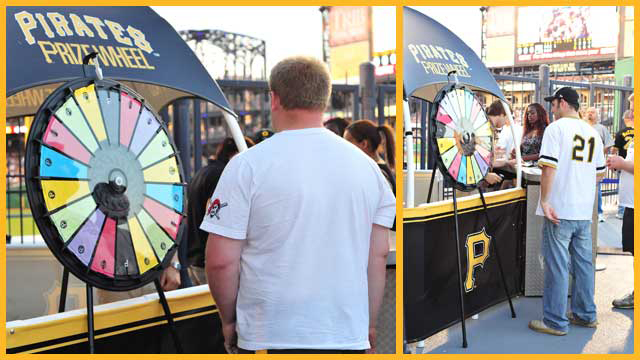 Pirates Prize Wheel goes virtual