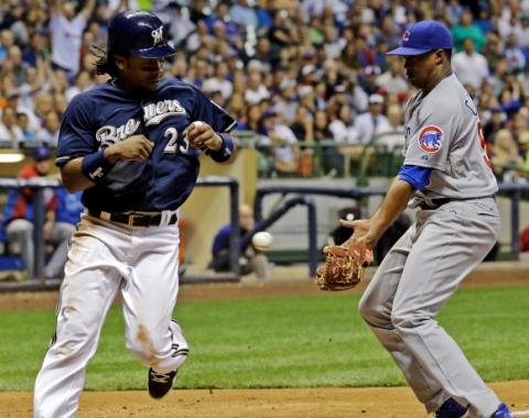 Cubs se quedaron cortos ante Milwaukee