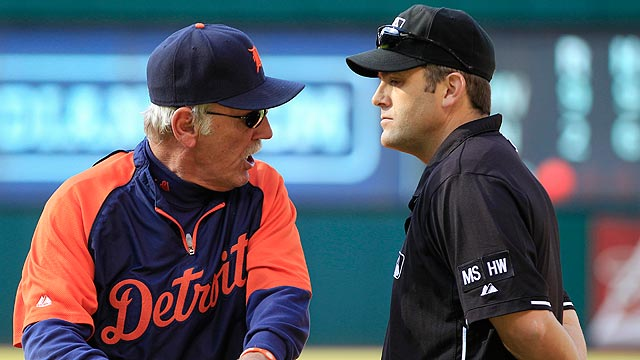 Leyland tossed for arguing double play calls