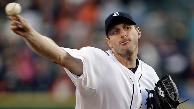 Shoulder fatigue leads to Scherzer's early exit