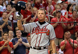 Emotional finish for Chipper at Turner Field