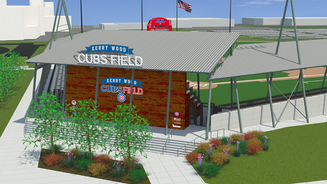 Wood proud to attend groundbreaking of new field