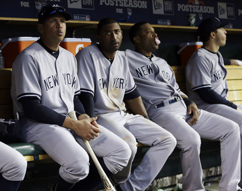 A-Rod, Yankees no batearon en los playoffs
