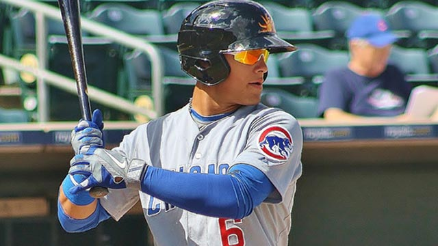 Top prospect Baez injures thumb in Fall League