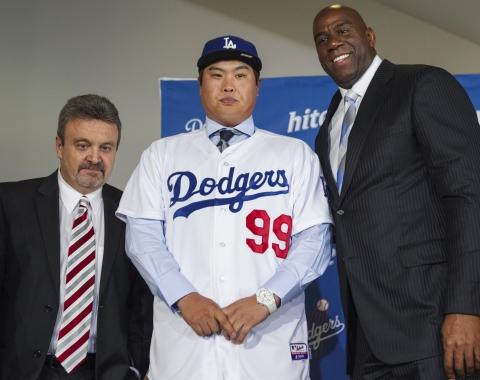 Dodgers presentan a Ryu Hyun-jin