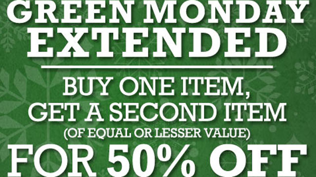 Green Monday sale great chance to stuff stockings