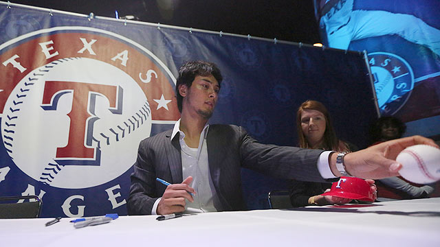 Rangers' Soto to catch most of Darvish's start