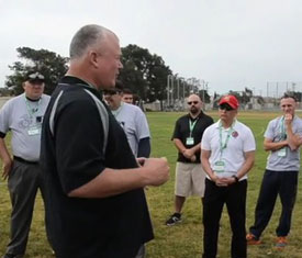 MLB director of umpire development Rich Rieker talks about the one-day camp for the United States Marine Corps.