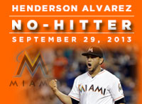 Hech of a play preserves Alvarez's no-hitter