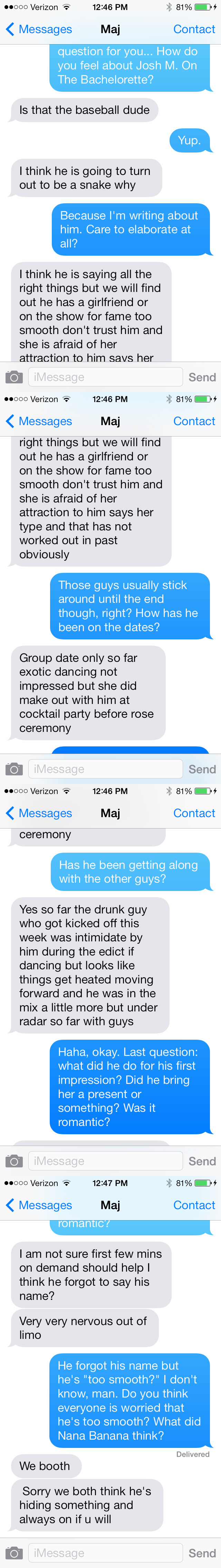 Bachelorette Text