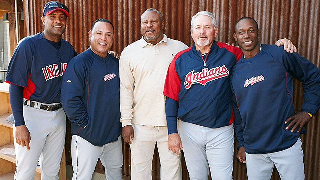 Sandy Alomar, Carlos Baerga, Albert Belle, Mike Hargrove, Kenny Lofton