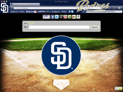 San Diego Padres Browser Theme