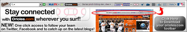 Download the FREE Orioles Toolbar