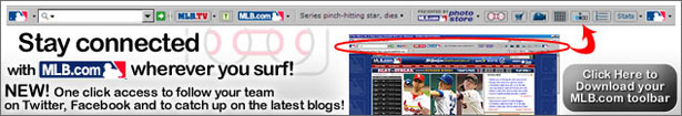 Download the FREE MLB Toolbar