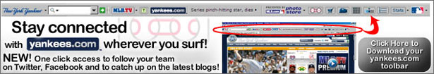 Download the FREE Yankees Toolbar