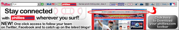 Download the FREE Phillies Toolbar