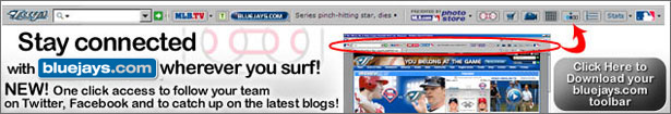 Download the FREE Blue Jays Toolbar